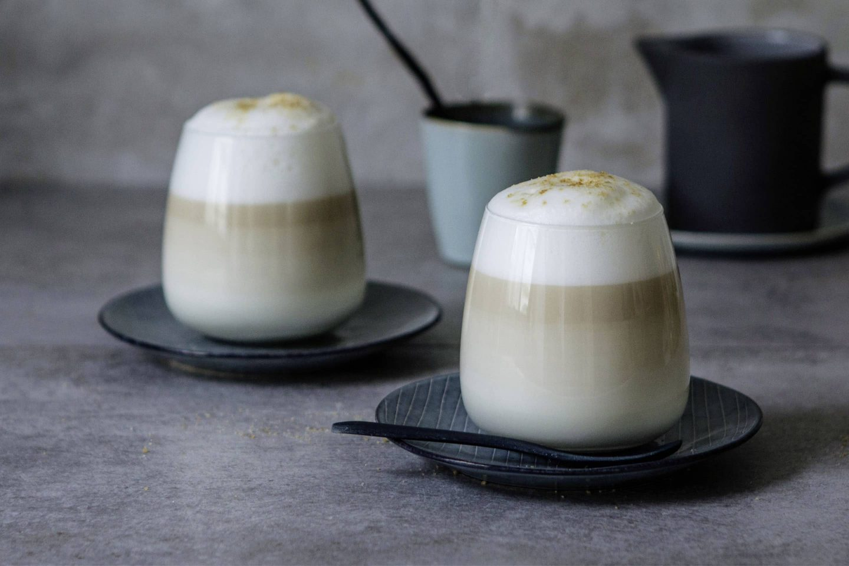 Earl Grey Schwarztee-Latte mit Vanille