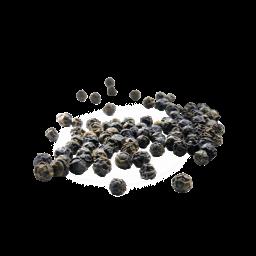 schwebende schwarze Pfefferkörner