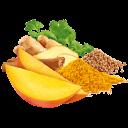 Mango mit Zimt, Ingwer, Koriander und Curcuma