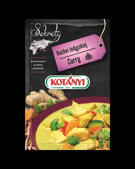 345504 Kotanyi Sekrety Kuchni Indyjskiej Curry B2c Pouch