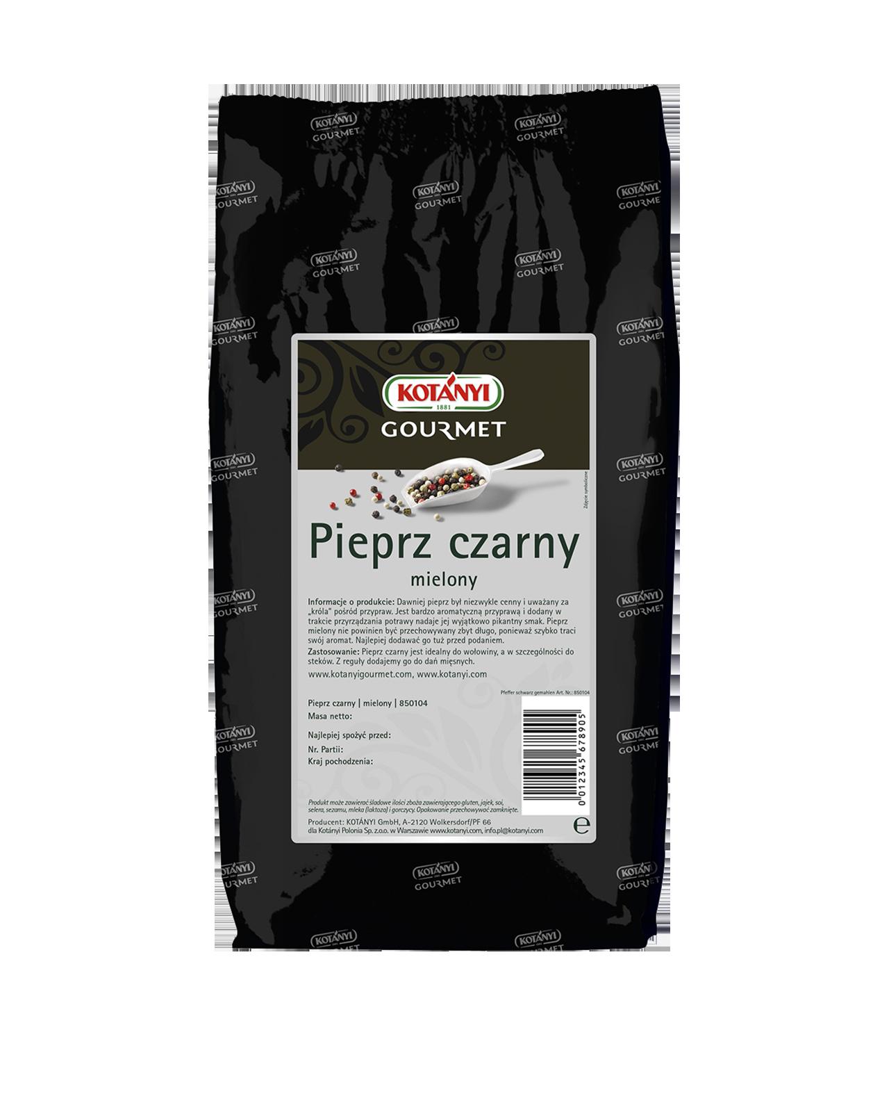 850104 Kotanyi Pieprz Czarny Mielony B2b Bag 1000g
