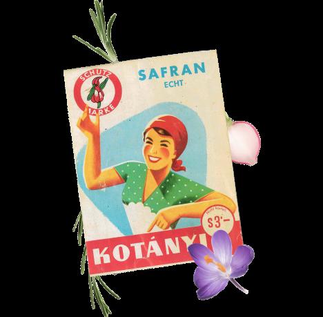 Torebka przypraw Kotányi z lat 70.