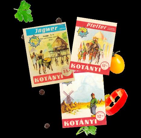 Torebki z przyprawami Kotányi z 1961 r.