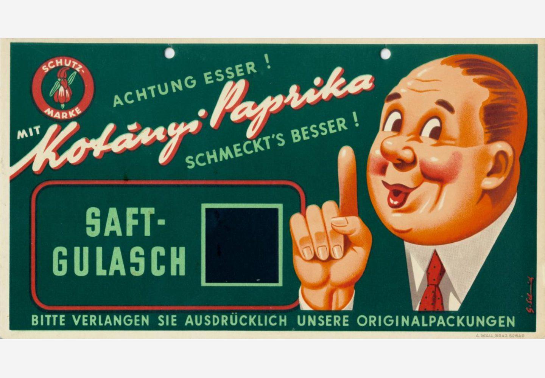 Znak reklamowy Kotányi z lat 50.