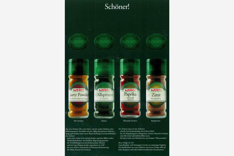Plakat reklamowy Kotányi z 2000 r.