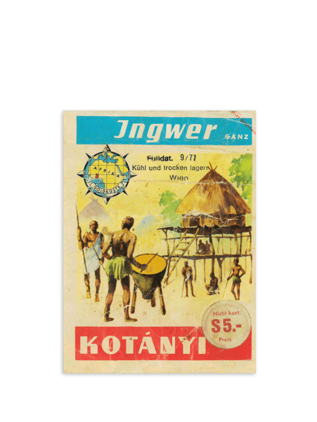 Torebka z imbirem Kotányi z lat 70.
